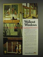 1972 Andersen Windowalls Ad - Walkout Windows