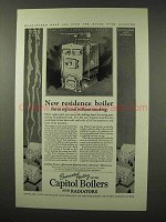1927 Capitol Boilers and Radiators Smokeless Boiler Ad