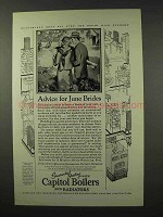 1927 Capitol Boilers and Radiators Ad - June Brides