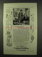 1927 Capitol Boilers and Radiators Ad - U.S. Makes Good