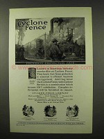 1927 Cyclone Fence Ad - Property Protection Pays