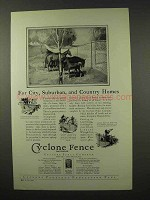 1927 Cyclone Fence Ad - City, Suburban and Country