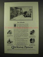 1927 Cyclone Fence Ad - For Schools