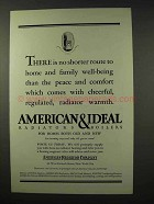 1927 American Radiator Ad - Family Well-Being