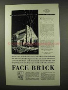 1927 American Face Brick Association Ad - Distinguished