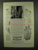 1926 Capitol Boilers and Radiators Ad - Come Up Smiling