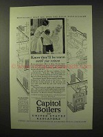 1926 Capitol Boilers and Radiators Ad - They'll Be Warm