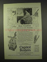 1926 Capitol Boilers and Radiators Ad - June Comfort