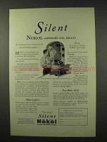 1926 Silent Nokol Heater Ad - Oil Heat