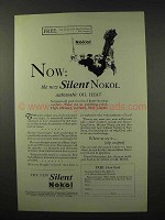 1926 Silent Nokol Heater Ad - Automatic Oil Heat