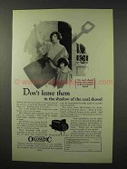 1926 Williams Oil-o-Matic Heating Ad - Don't Leave Them