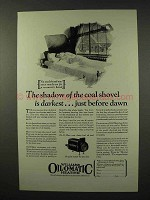 1926 Williams Oil-o-Matic Heating Ad - Just Before Dawn