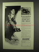 1926 Williams Oil-o-Matic Heating Ad - Convenience