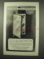 1926 Corbin Hardware Hinges Ad - Good Buildings