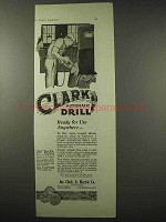 1922 Clark Automatic Drill Ad - Ready for Use Anywhere