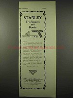 1922 Stanley Tool Ad - Try-Square No. 2265 and Bevels