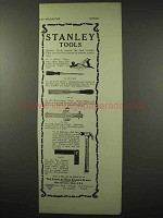 1922 Stanley Tool Ad - Bailey Plane, Hammer, Chisel