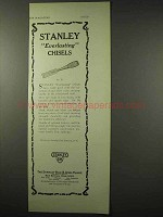 1922 Stanley Tool Ad - No. 50 Everlasting Chisel