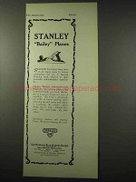 1922 Stanley Tool Ad - Bailey Iron Plane No. 5 1/4