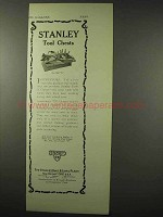 1922 Stanley Tool Chest Ad