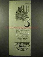 1922 Starrett Tools Ad - Easy to Buy