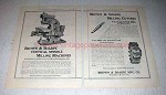 1922 Brown & Sharpe Vertical Spindle Milling Machine Ad