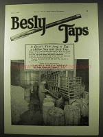 1922 Besly Taps Ad - Doesn't Take Long To Tap a Million