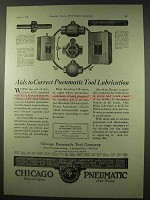 1922 Chicago Pneumatic Tools Ad - Correct Lubrication