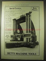 1922 Betts Machine Tools Ad - Planers
