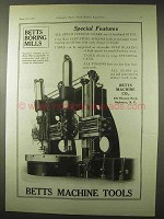 1922 Betts Machine Tools Ad - Boring Mills