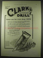 1922 Clark Automatic Drill Ad - Order For Your Shop