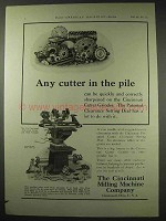 1922 Cincinnati Universal Cutter and Tool Grinder Ad