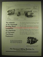 1922 Cincinnati Milling Machine Ad - Dividing Head