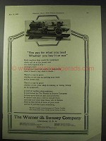 1922 Warner & Swasey Turret Lathes Ad - What You Need