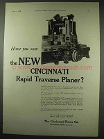 1922 Cincinnati Rapid Traverse Planer Ad, Have You Seen