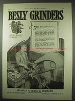 1922 Besly Wide Face Ring Wheel Grinder Ad