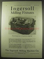 1922 Ingersoll Milling Machine Ad - Milling Fixtures