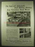 1922 Ingersoll Advertisementjustable Rail Milling Machine Advertisement