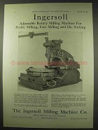 1922 Ingersoll Adjustable Rotary Milling Machine Ad