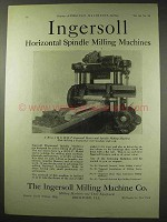 1922 Ingersoll Horizontal Spindle Milling Machine Ad