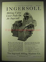 1922 Ingersoll Milling Machine Ad - Valve Cover Pads