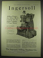 1922 Ingersoll Milling Machine Ad - Flanges on Motor