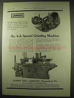 1922 Landis No. 4-A Special Grinding Machine Ad