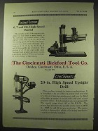 1922 Cincinnati Bickford Ad - Radial, Upright Drill