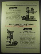 1922 Cincinnati Bickford Advertisement - Radial, Upright Drill