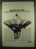 1962 ITT Federal Laboratories Ad - Consider the Sweep