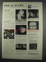 1962 Corning Glass Works Ad - This is Glass
