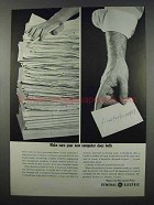 1962 General Electric GE-225 Computer Ad - Does Both