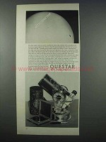 1962 Questar Telescope Ad - Mercury in Transit