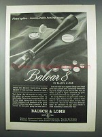 1962 Bausch & Lomb Balvar 8 Scope Ad - Finest Optics